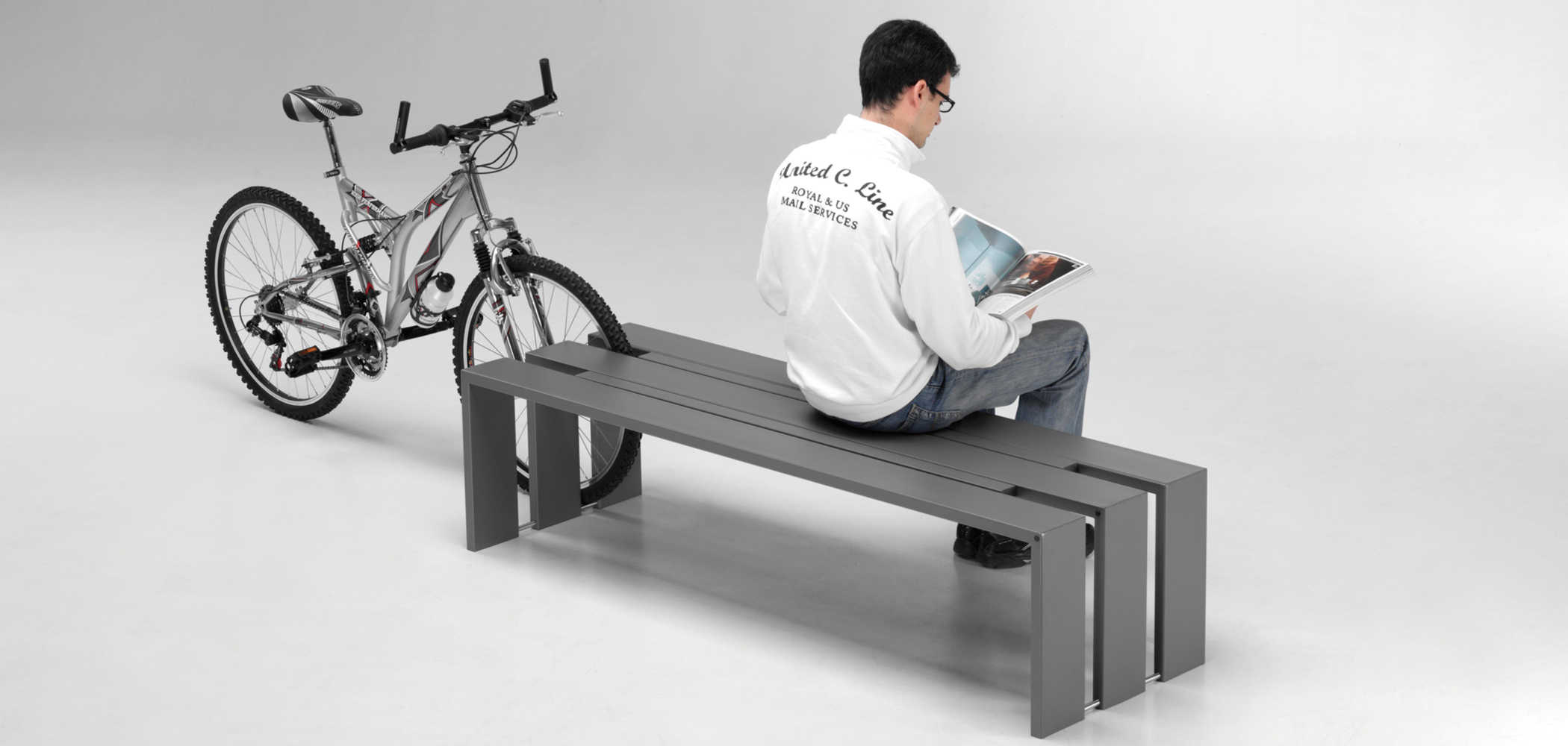 toso bench - bike racks - metalco