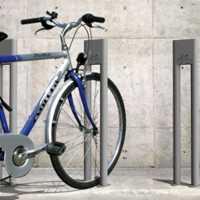Silver bike racks