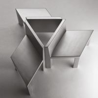 Isometrica modular monolithic seat and table