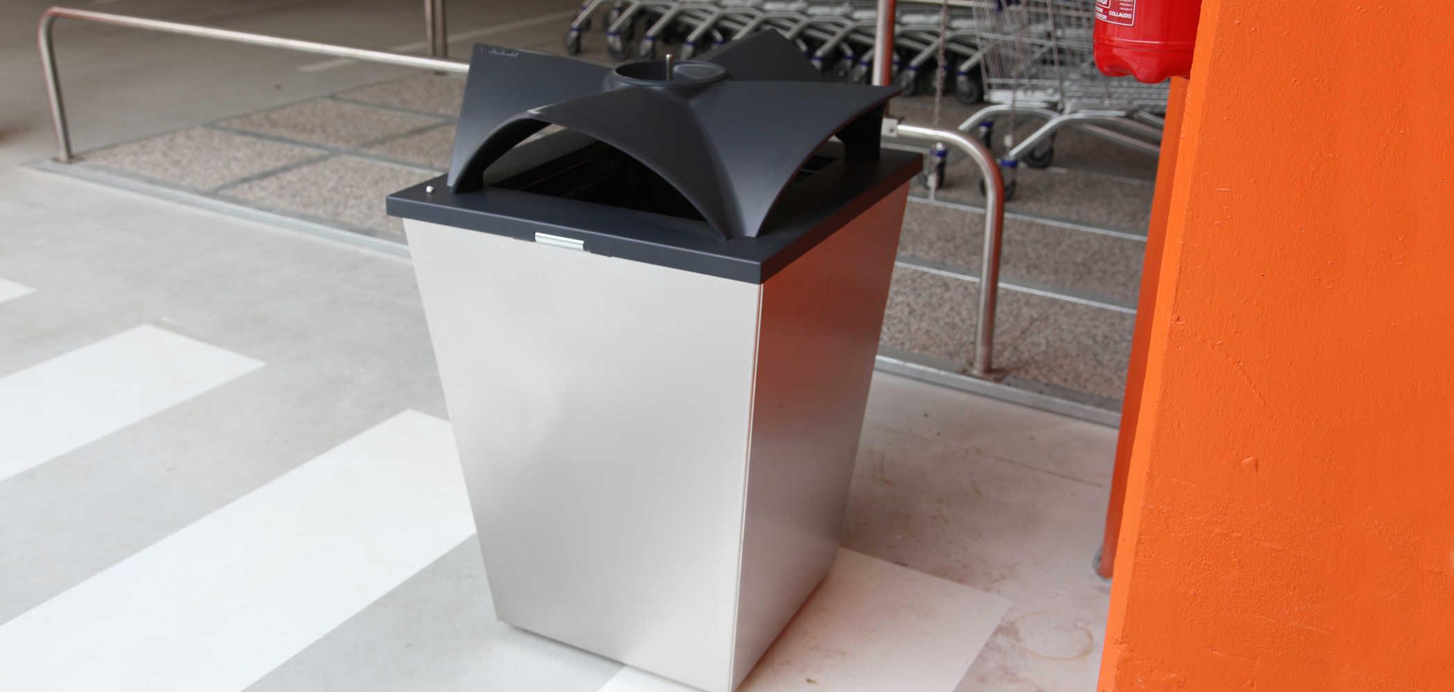 Ecomix Recycling Litter Bin Metalco